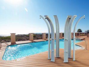 Docce solari in alluminio e acciaio doccia - Doccia solare per piscina ...